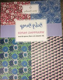Vera Bradley~Baby Bump~Wrapping Paper Book~20 Assorted Sheet