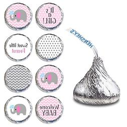 Baby Girl Elephant Labels for HERSHEY'S KISSES® chocolate