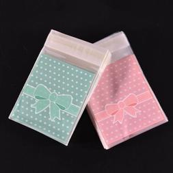Cookie Candy Adhesive Pack Paper Bags Wrapping Supplies Cake