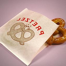 Bakery 7 X 6-3/4 Pretzel Bags - Grocery Bags - 250 each by P