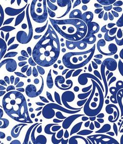 "Batik Scroll Royal Blue Gift Wrapping Roll 24"" X 16' - All O"