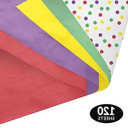 Birthday Confetti Gift Wrapping Tissue Paper Set - 120 Sheet