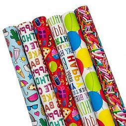 Birthday Gift Wrap Wrapping Paper for Boys, Girls, Adults. 6