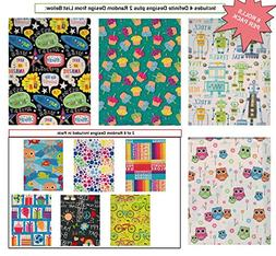 Premium Birthday Gift Wrap Wrapping Paper for Boys, Girls, K