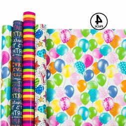 Birthday Wrapping Paper - Gift Wrapping Paper - Premium Qual