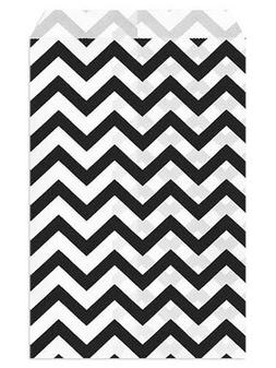 6 X 9 Black Chevron Paper Bags Set of 100, by My Craft Suppl