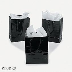 Fun Express 3-178 Small Black Gift Bags
