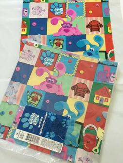 Blues Clues Gift Wrap Wrapping Paper Sealed New Hallmark B-d