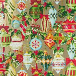 Bulk Ream Roll Christmas Gift Wrap Wrapping Paper, Gold Orna