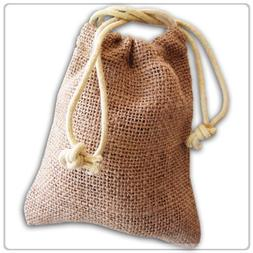 New Burlap Favor Gift Bags With Drawstring 3 x 5 - Pack Of 2