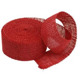 2 Inch Burlap Jute Ribbon for Party Decorations, Rustic Wedd
