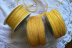 BURLAP Jute YELLOW 2mm to 11mm Wide Mixed Lengths 3 Style Ch