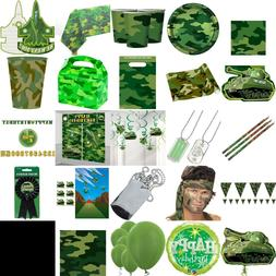 Camouflage Birthday Party Decorations, Table Wear Children B