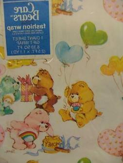 Care Bear American Greetings Gift Wrap Wrapping Paper 1 Gian