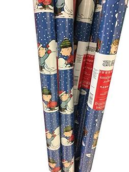 Charlie Brown & the Gang ~ Holiday Gift Wrap Paper ~ 65 Sq.