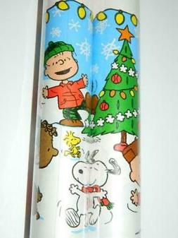 Charlie Brown Xmas Gift Wrap Snoopy Tree Linus Lucy Wrapping