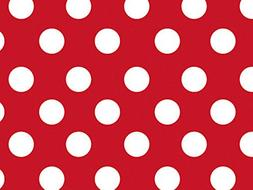 Cherry Dots Red With White Dots Wrapping Paper Roll - 24 Inc