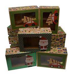 Christmas Doughnut and Cookie gift boxes; rectangle with cle