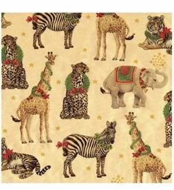 Christmas Gift Holiday Wrapping Paper Wild Christmas Gold Fo
