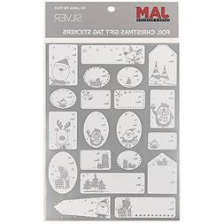 JAM PAPER To/From Christmas Gift Tag Stickers - Matte Foil S