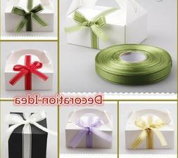 Christmas Gift Wrappers Satin Edge Organza Ribbons Handmade