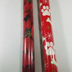 Christmas Gift Wrapping Paper Rolls 110 Square Feet Dog Paws