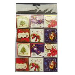 Christmas Hand Crafted Tags - Foiled & Layered - 24 X 4 Page
