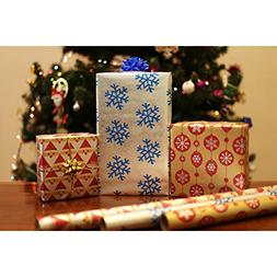 Christmas Holiday Gift Wrapping Paper Rolls Recycled Kraft X