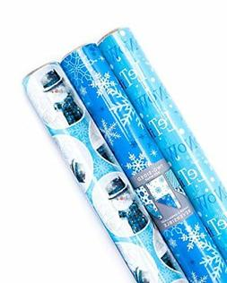 Pack of 4 Roll Christmas Holiday Gift Wrapping Paper Festive