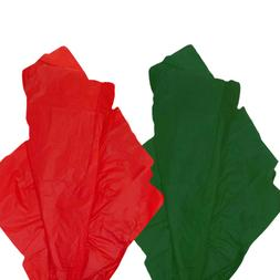 "Christmas TISSUE PAPER 20X30"" solid RED/GREEN tissue paper g"