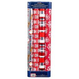 Kirkland Signature Christmas Wrap - Novelty Prints Red/Silve