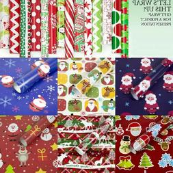 Christmas Wrapping Paper Gift Prsent Tree SaDFnta Wrap Decor