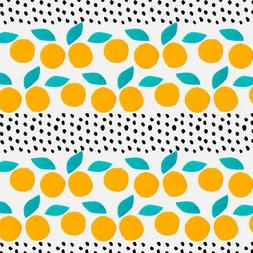 Citrus Dots Pattern Premium Roll Gift Wrap Wrapping Paper