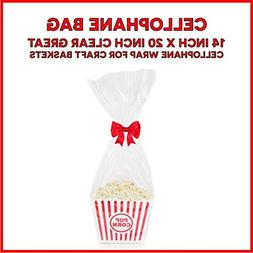 10 Pack  Clear Cello Basket Cellophane Bags - Gift Package F