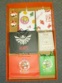 Nintendo Collectible Gift Bags and Wrapping Paper - NEW old