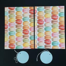 Cookies Baking Bake Off MACAROONS Gift Wrap Wrapping Paper X