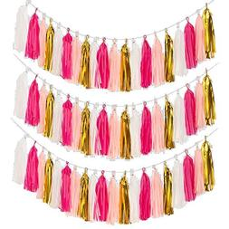 Craft Paper Tassels, MerryNine 40 Pcs 2 Strings DIY Tassel G