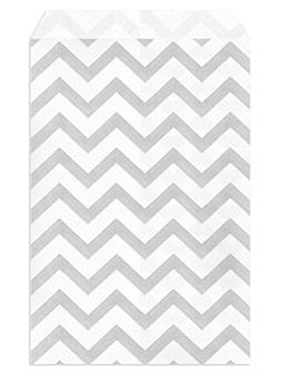 My Craft Supplies 4 X 6 Silver Gray Chevron Paper Bags Set o