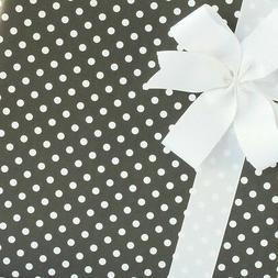 Dainty Dots Wrapping Paper / Gift Wrap - Black Licorice - by