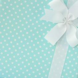 Dainty Dots Wrapping Paper / Gift Wrap - Blue Taffy - by Sma