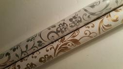 Damask Wrapping Paper Fleur De Lis Lys Gold Gift Wrap 2 Roll