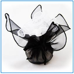 12x Designer Organza Gift Bags for Weddings & Party Favors -