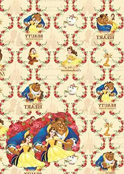 Disney Beauty & The Beast Wrapping Paper & Tags - 2 Gift Wra