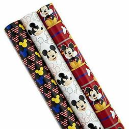 Hallmark Disney Mickey Mouse Wrapping Paper with Cut Lines (