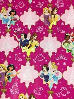 Disney's Princesses Christmas Gift Wrapping Paper --20 Squar