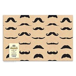 2 Sheets Distinguished Mustache Gift Wrapping Paper