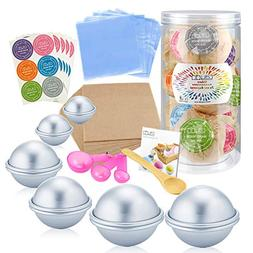 176 Pieces DIY Bath Bomb Molds Set with Instructions Includi