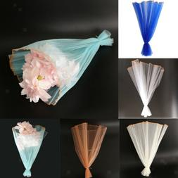 DIY Tulle Wrapping Paper Flower Bouquet Craft Paper Gift Par
