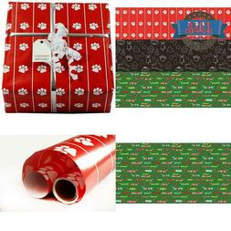Dogs  Paws And Pets Wrapping Paper 3 Rolls Total 112.5 Squar