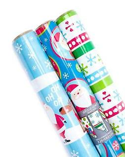 3 Pack Double sided Christmas Wrapping Paper Rolls For Gifts
